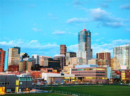 Temp Jobs - Baseball Field and Downtown Denver