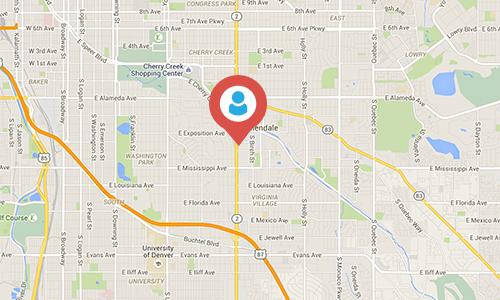 Denver Temp Agency - Map of Denver Office